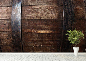 Vintage texture of oak barrel Wall Mural Wallpaper - Canvas Art Rocks - 4