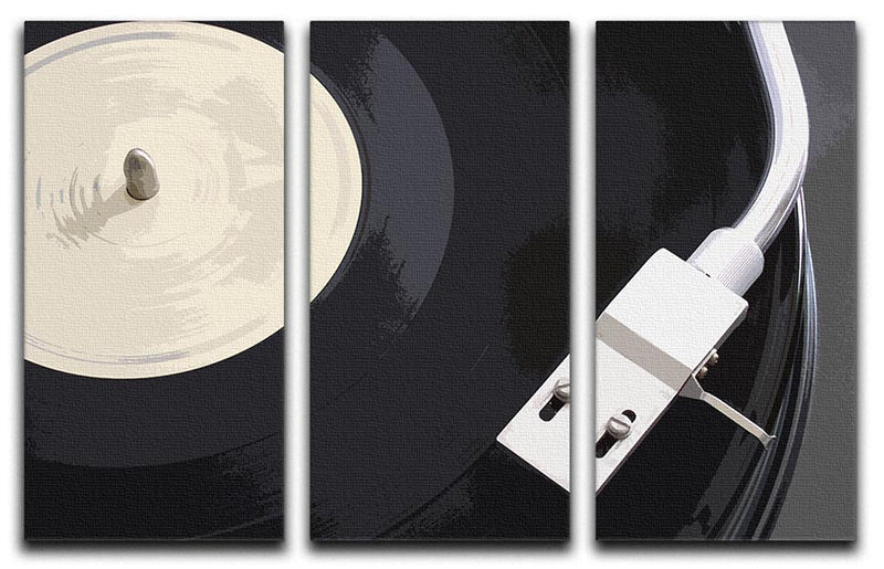 Vinyl DJ Turntable 3 Split Canvas Print - Canvas Art Rocks