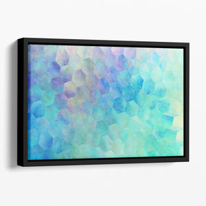 Violet and Blue Hexagons Floating Framed Canvas - Canvas Art Rocks - 1