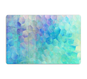 Violet and Blue Hexagons HD Metal Print - Canvas Art Rocks - 1