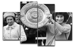 Virginia Wade tennis player 4 Split Panel Canvas  - Canvas Art Rocks - 1