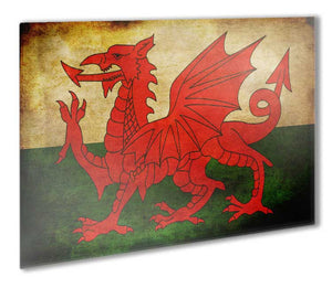 Wales Flag Metal Print - Canvas Art Rocks - 1