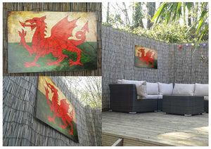 Wales Flag Metal Print - Canvas Art Rocks - 2
