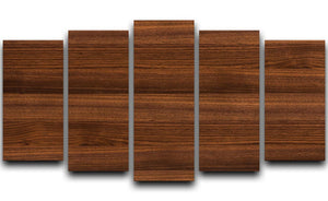 Walnut wood decorative 5 Split Panel Canvas - Canvas Art Rocks - 1