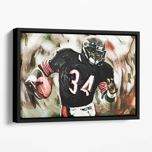 Walter Payton Chicago Bears Floating Framed Canvas