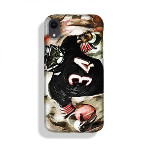 Walter Payton Chicago Bears Phone Case iPhone XR
