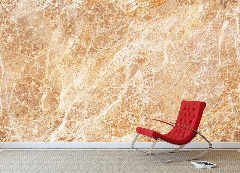 Warm colored natural marble Wall Mural Wallpaper - Canvas Art Rocks - 1