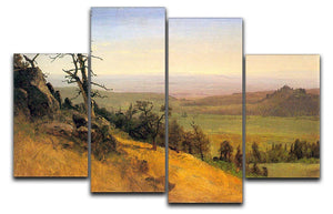 Wasatch Mountains Nebraska by Bierstadt 4 Split Panel Canvas - Canvas Art Rocks - 1
