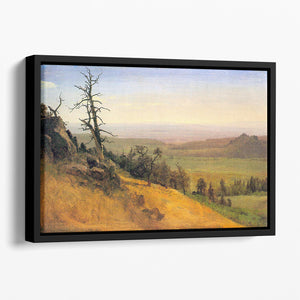 Wasatch Mountains Nebraska by Bierstadt Floating Framed Canvas - Canvas Art Rocks - 1