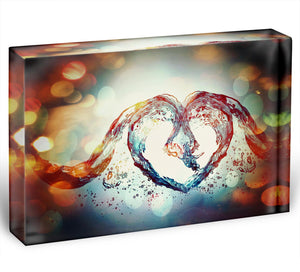 Water Heart Acrylic Block - Canvas Art Rocks - 1