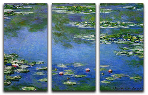 Water Lilies by Monet Split Panel Canvas Print - Canvas Art Rocks - 4