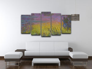 Water Lillies 12 by Monet 5 Split Panel Canvas - Canvas Art Rocks - 3