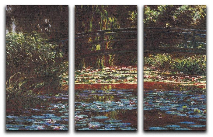 Water Lily Pond 1 by Monet Split Panel Canvas Print