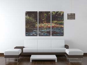 Water Lily Pond 1 by Monet Split Panel Canvas Print - Canvas Art Rocks - 4