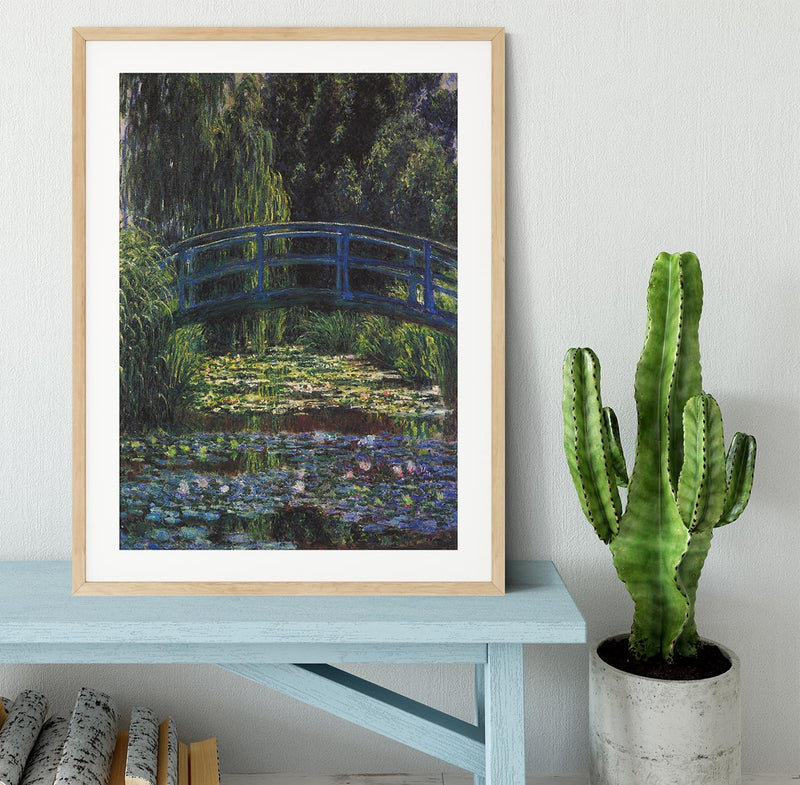 Water Lily Pond 6 by Monet Framed Print - Canvas Art Rocks - 3