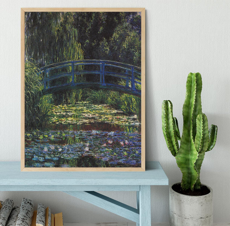 Water Lily Pond 6 by Monet Framed Print - Canvas Art Rocks - 4