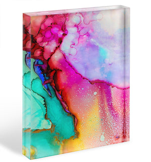 Water Painting Version 2 Acrylic Block - Canvas Art Rocks - 1