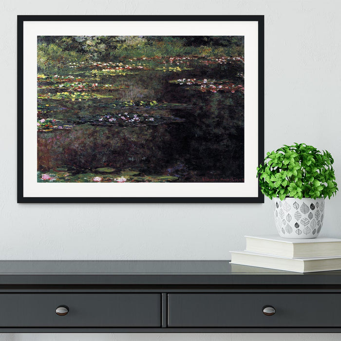 Water lilies water landscape 5 by Monet Framed Print