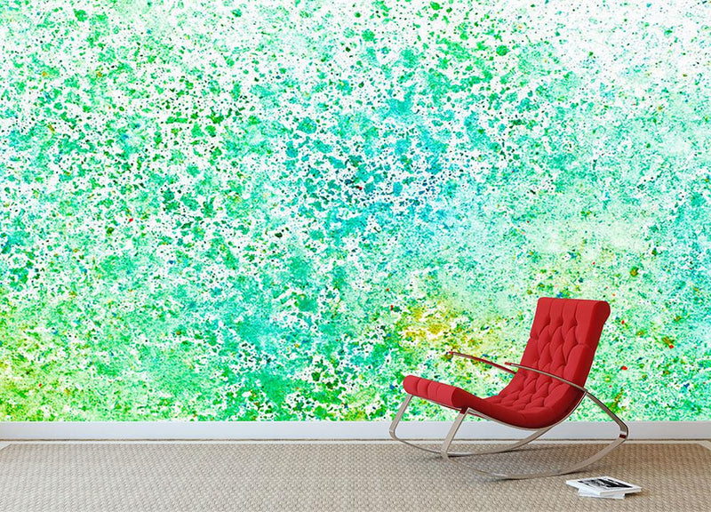 Watercolor painting on paper Wall Mural Wallpaper - Canvas Art Rocks - 1