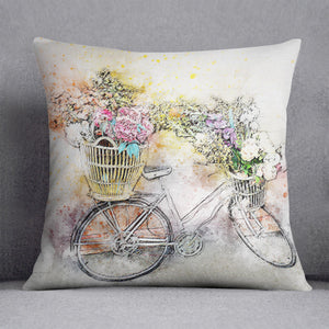 Watercolour Bike Cushion