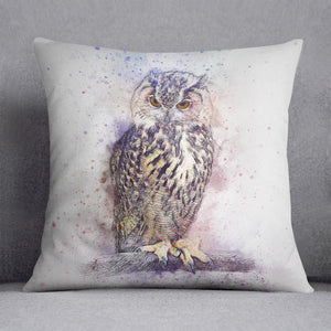 Watercolour Owl Cushion