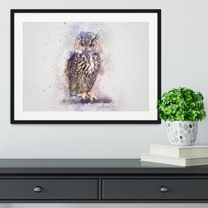 Watercolour Owl Framed Print - Canvas Art Rocks - 1