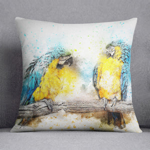 Watercolour Parrots Cushion