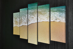 Wave of sea water and sand 5 Split Panel Canvas - Canvas Art Rocks - 2