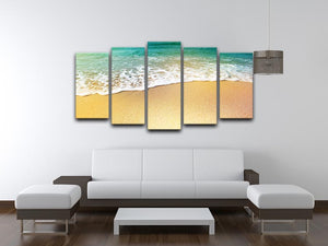 Wave of sea water and sand 5 Split Panel Canvas - Canvas Art Rocks - 3