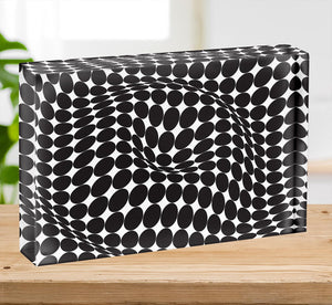 Wavy Circles Acrylic Block - Canvas Art Rocks - 2