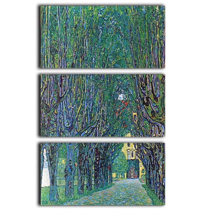 Way to the Park by Klimt 3 Split Panel Canvas Print