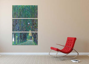 Way to the Park by Klimt 3 Split Panel Canvas Print - Canvas Art Rocks - 2