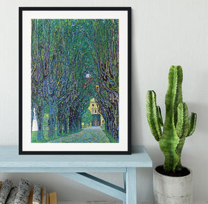 Way to the Park by Klimt Framed Print - Canvas Art Rocks - 1