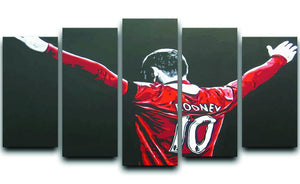 Wayne Rooney 5 Split Panel Canvas  - Canvas Art Rocks - 1