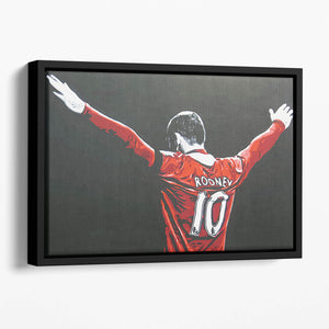 Wayne Rooney Floating Framed Canvas