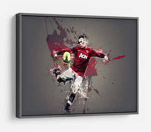 Wayne Rooney Paint Splatter HD Metal Print