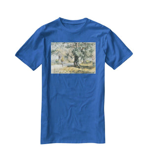 Wayside Inn Mass by Hassam T-Shirt - Canvas Art Rocks - 2