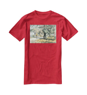 Wayside Inn Mass by Hassam T-Shirt - Canvas Art Rocks - 4