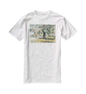 Wayside Inn Mass by Hassam T-Shirt - Canvas Art Rocks - 5