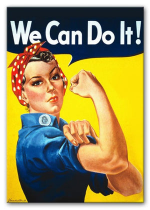 We Can Do It Print - Canvas Art Rocks - 1