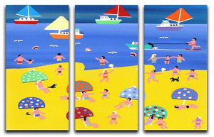 We are on holiday by Gordon Barker 3 Split Panel Canvas Print - Canvas Art Rocks - 1