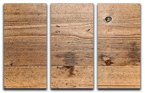 Weathered wood 3 Split Panel Canvas Print - Canvas Art Rocks - 1