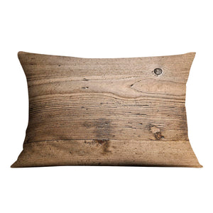Weathered wood Cushion - Canvas Art Rocks - 4