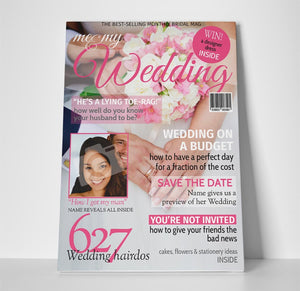 Wedding Magazine Cover Spoof Canvas Print