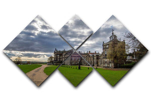 Wentworth Woodhouse Hall 4 Square Multi Panel Canvas - Canvas Art Rocks - 1