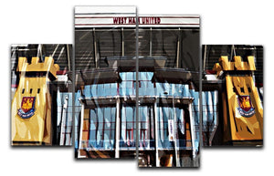 West Ham Upton Park 4 Split Panel Canvas  - Canvas Art Rocks - 1