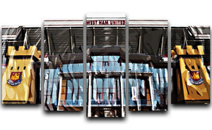 West Ham Upton Park 5 Split Panel Canvas  - Canvas Art Rocks - 1
