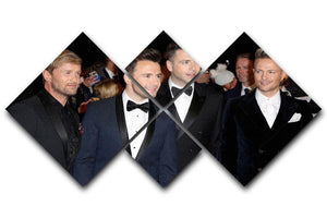 Westlife 4 Square Multi Panel Canvas  - Canvas Art Rocks - 1