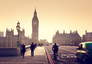 Westminster Bridge at sunset Wall Mural Wallpaper - Canvas Art Rocks - 1