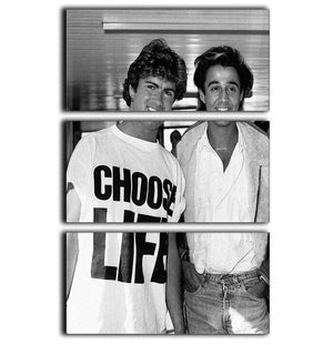 Whams George Michael and George Ridgeley 3 Split Panel Canvas Print - Canvas Art Rocks - 1